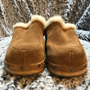 UGG Australia Kalie Tan Leather Clogs SZ 5
